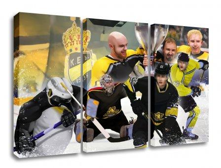 Krefeld Eishockey Leinwand Dreiteiler