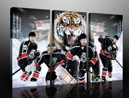 Nürnberg Eishockey Leinwand Dreiteiler